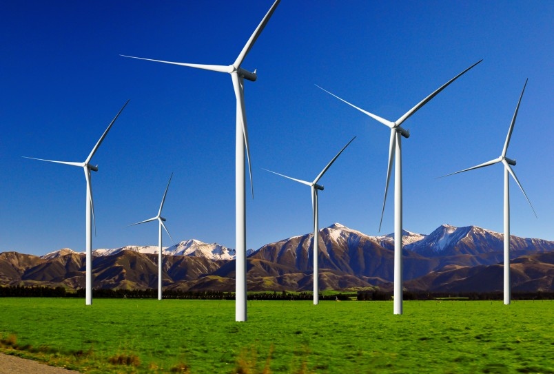 Wind turbines concept sustainable energy