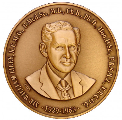 Image of the Liley Medal (obverse)